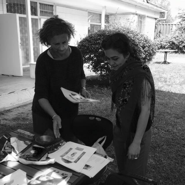 Maral Bolouri (right) with Danda Jaroljmek of Circle Art - photo credit Maral Bolouri.