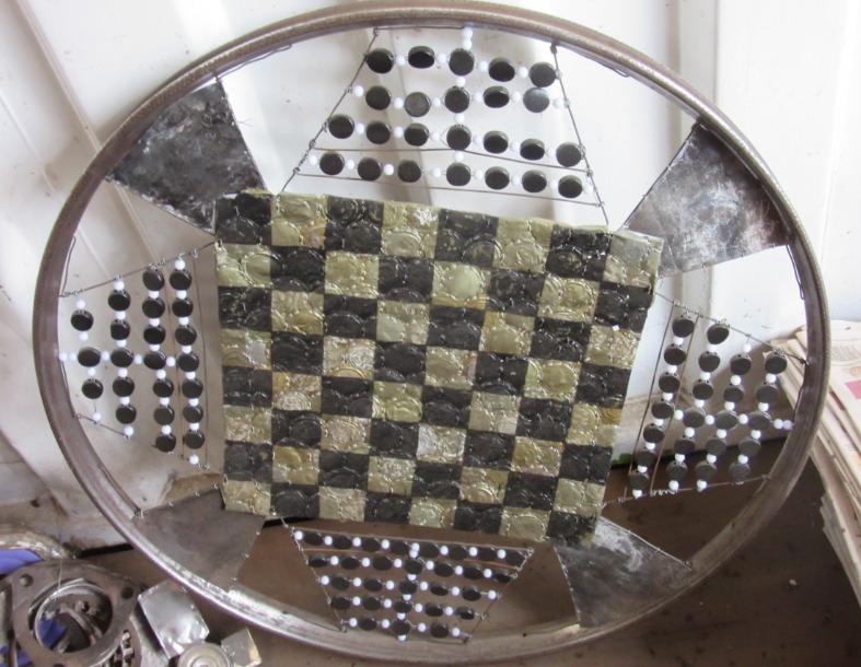 Chess board by Cyrus Kabiru Art.