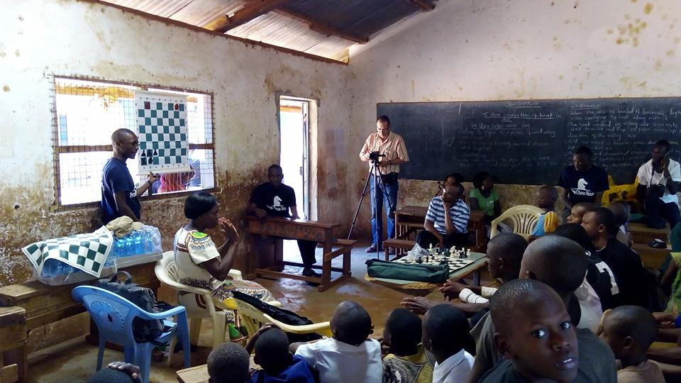 Instructions on how to play chess in progress. Photo credit Prox Chess House.
