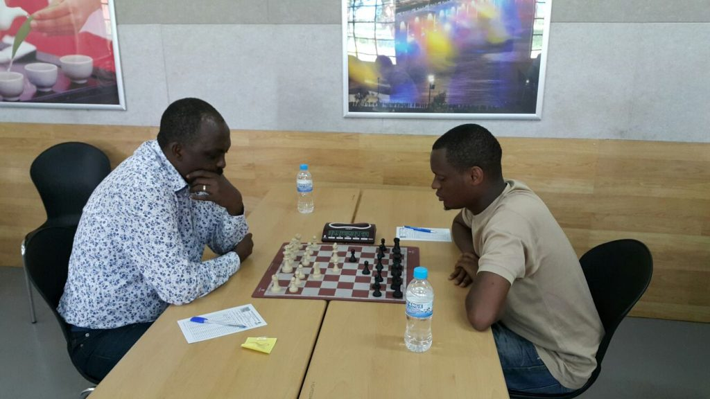 Niyibizi Alain Patience (right) on his way to victory.