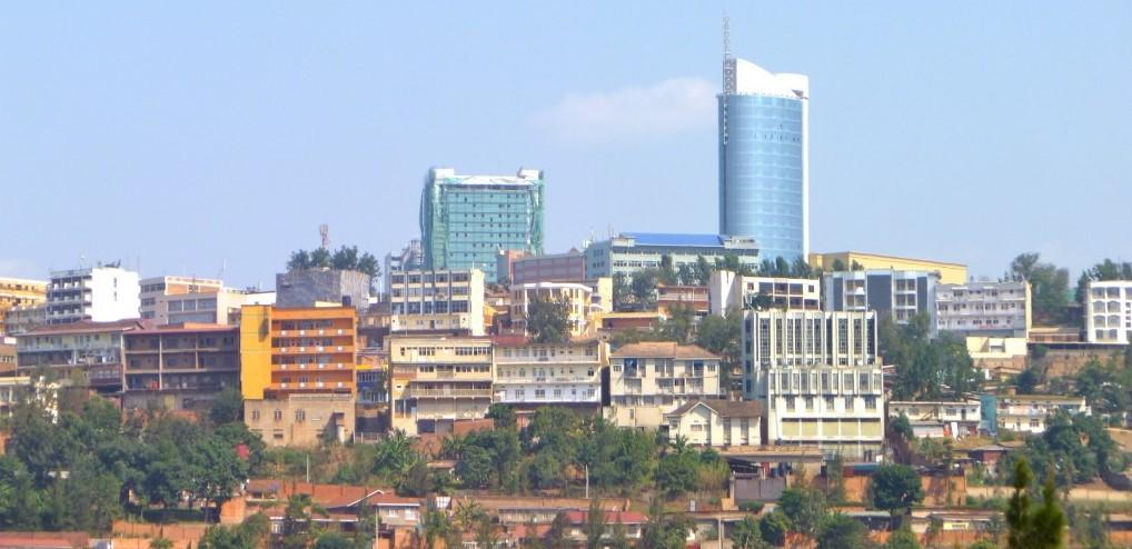 Kigali skyline.