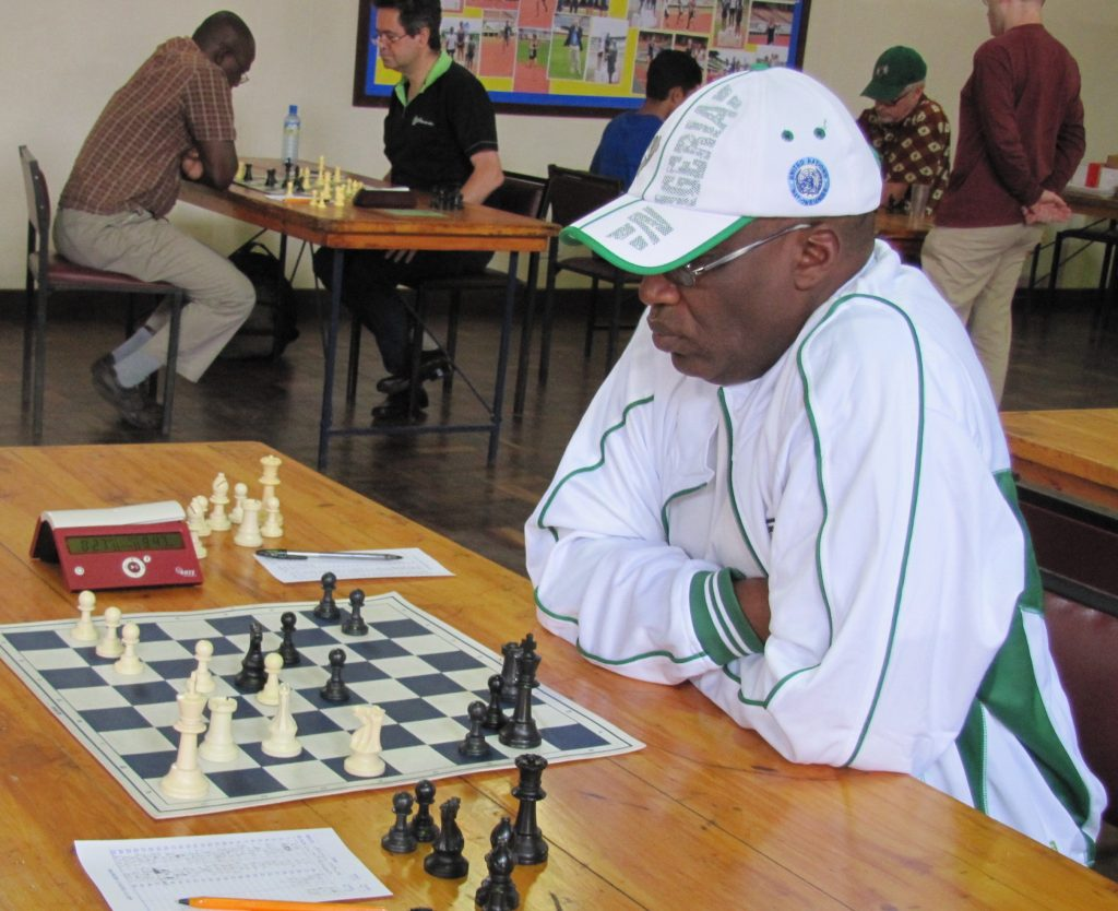 Coach Larry Kagambi during the 2015 Capablanca Cup.