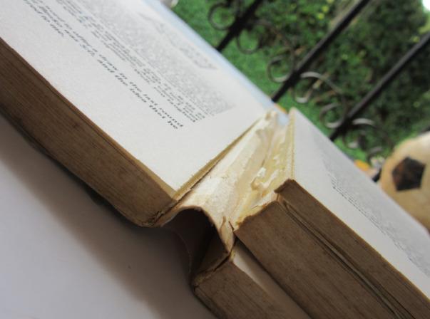 Broken spine of the RHM book