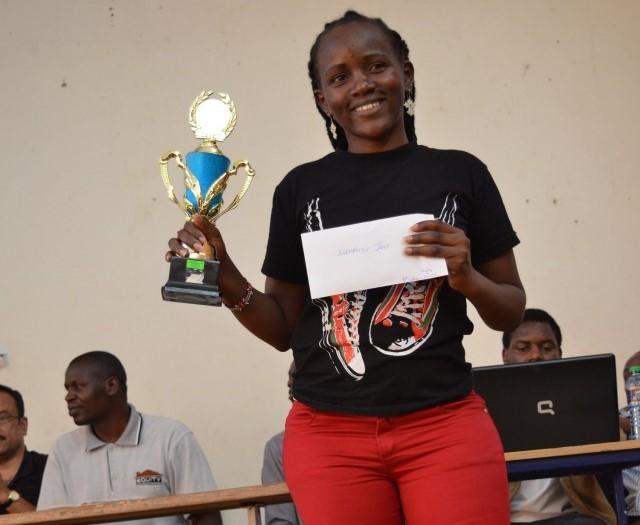 Jane Wambugu is on top of the world!