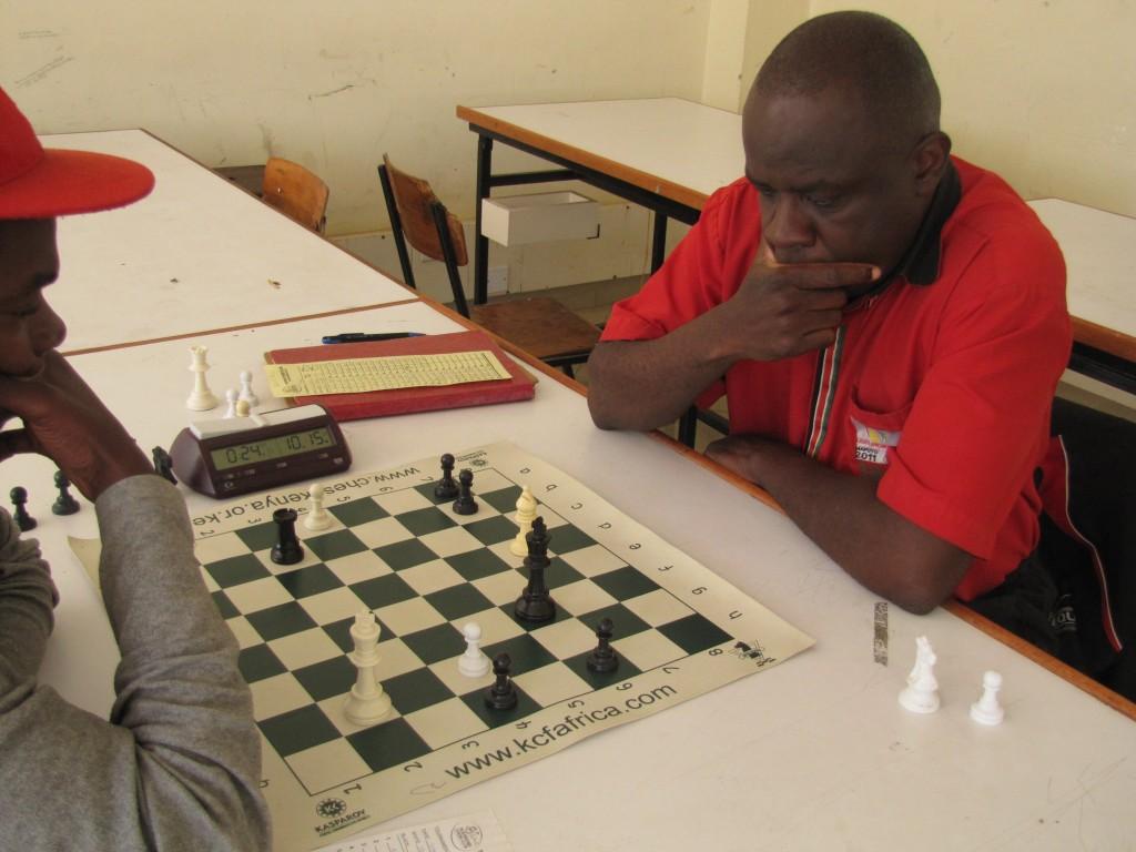 John Mukabi in action