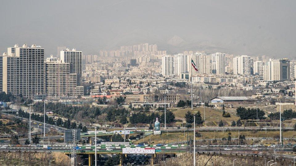 Tehran skyline.