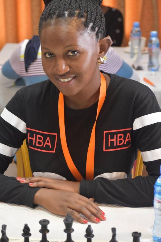 The charming WFM Namaganda Christine of Uganda. (photo by Bhavani Shankar).