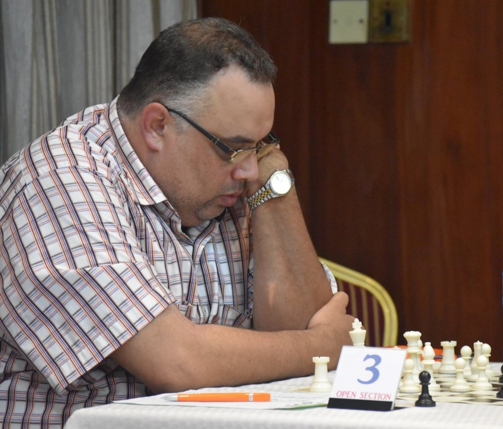 Sobh Amrou (2210) of Egypt who ended up with 7/7 and in second place. (photo by CSB Photography of Dar es Salaam)