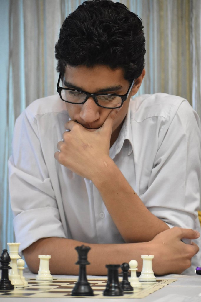 FM Kandil Adham (2347) of Egypt the winner of the Zone 4.2 Championship. (photo by CSB Photography of Dar es Salaam).