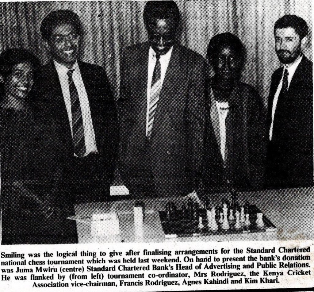 Photo in the defunct Kenya Times newspaper of 5th May 1994.