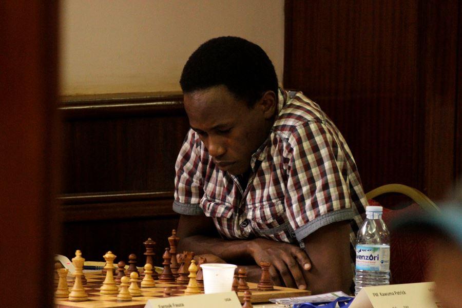 FM Patrick Kawuma in action during the 2016 Africa Individual Championship held in Kampala. Photo credit Paras Gudka.