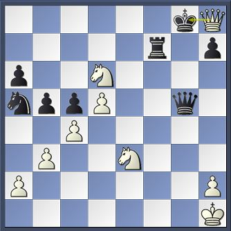 Petrosian v Spassky 10th game match 1966 after move 30 Qh8+!