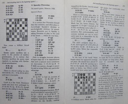 Sample page with a game and the analysis.
