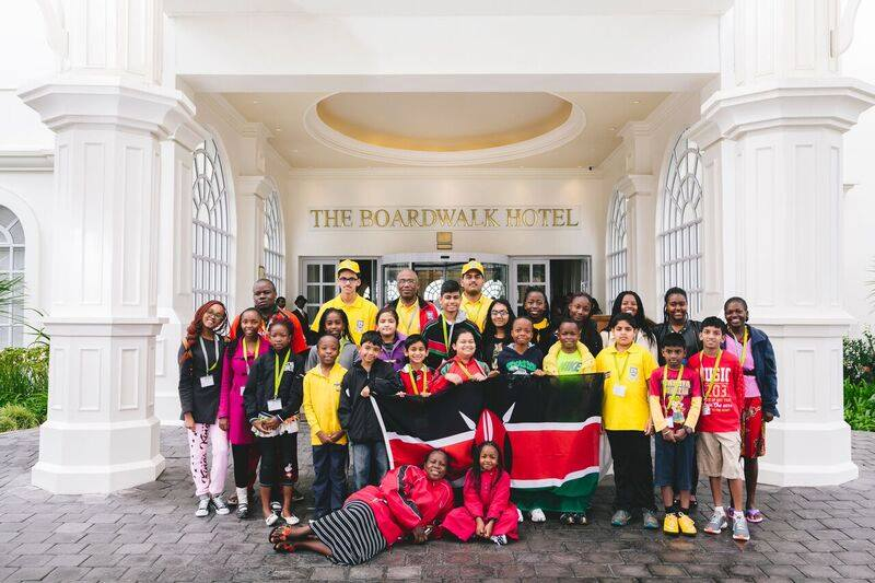 Team Kenya pose for a photograph. Photo credit Ross Charnock.