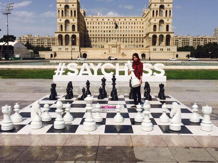 Shohreh Bayat in Baku.