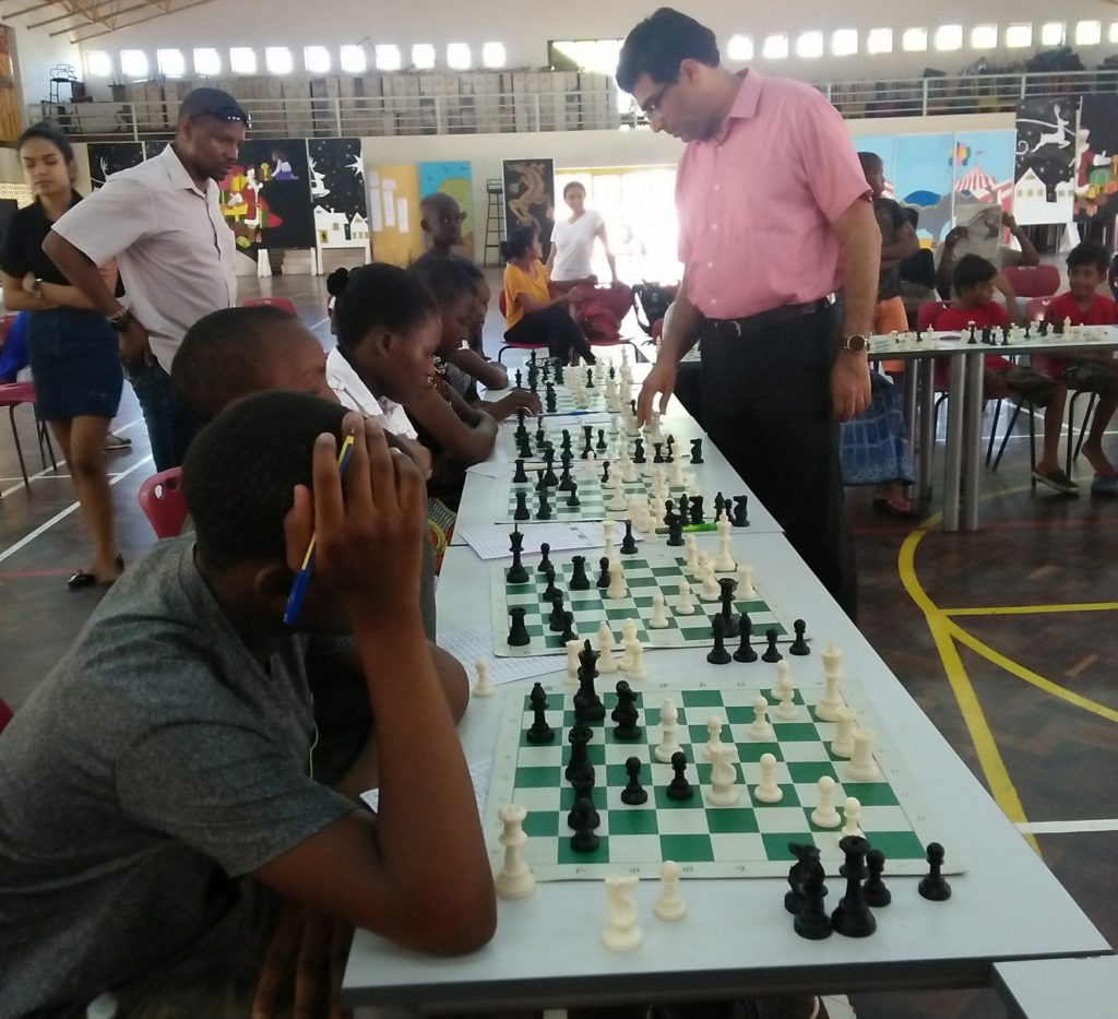 The Tiger of Madras GM Vishwanathan Anand in action.