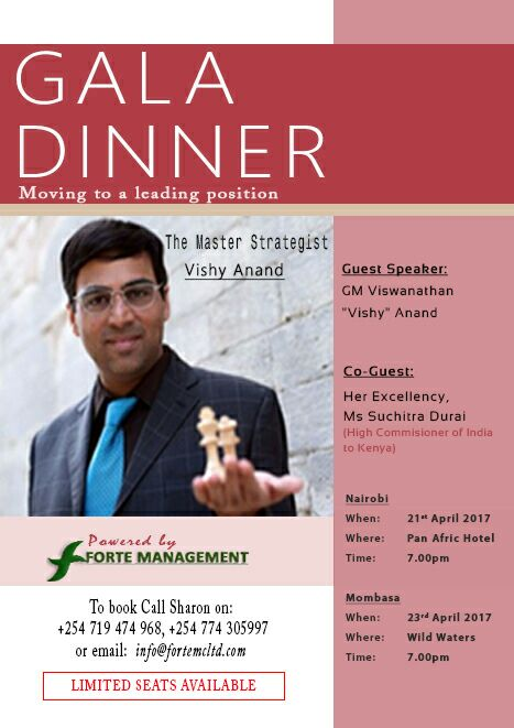 Poster for the gala dinner with Viswanathan Anand.