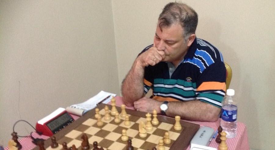 GM Alon Greenfeld of Israel in action. Photo credit Chanda Boyd Nsakanya.