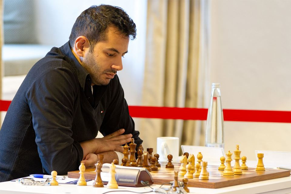 GM Adly Ahmed of Egypt in action during the 21st edition of the Open International Bavarian Championship (OIBM) in November 2017. Photo credit https://www.schach-tegernsee.de.