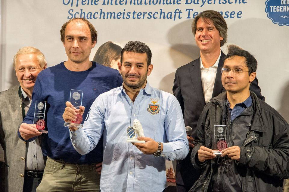 Proud winner from Africa GM Adly Ahmed (third from left).