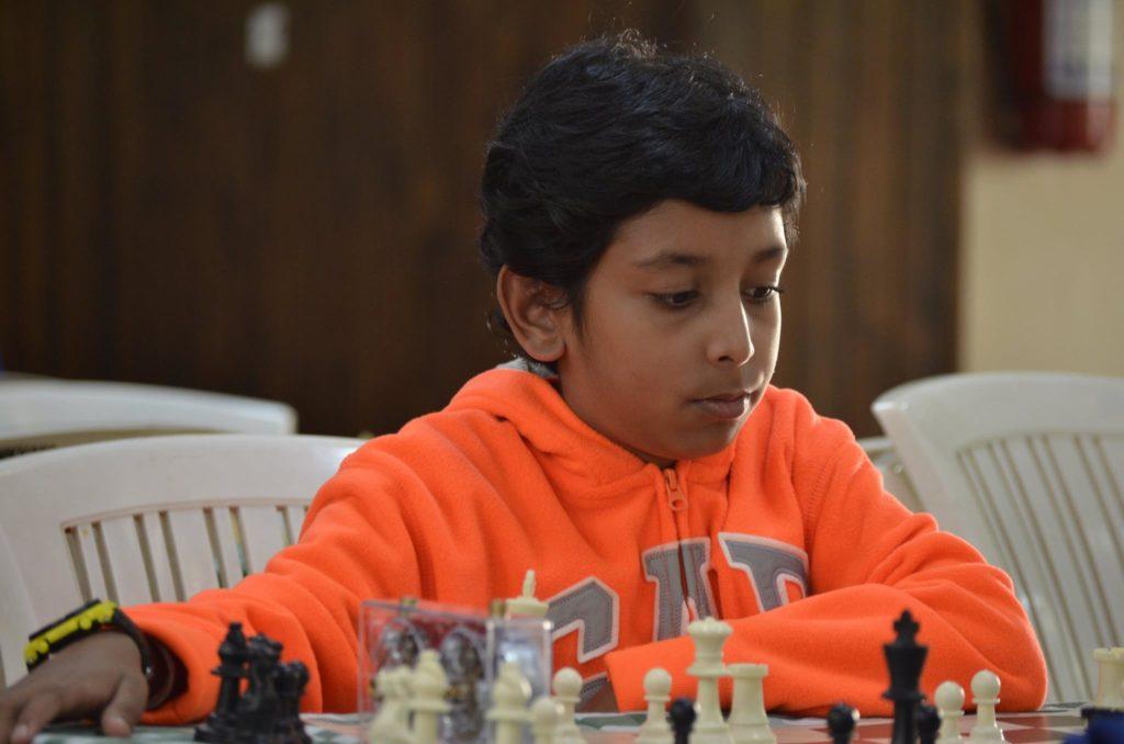 Harshil Gudhka in action.