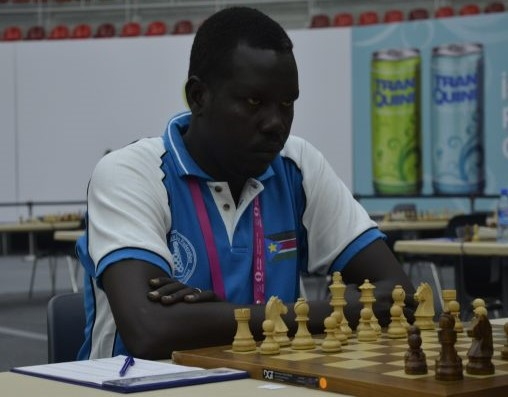 CM Cypriano Deng of South Sudan during the 2016 Baku Olympiad.