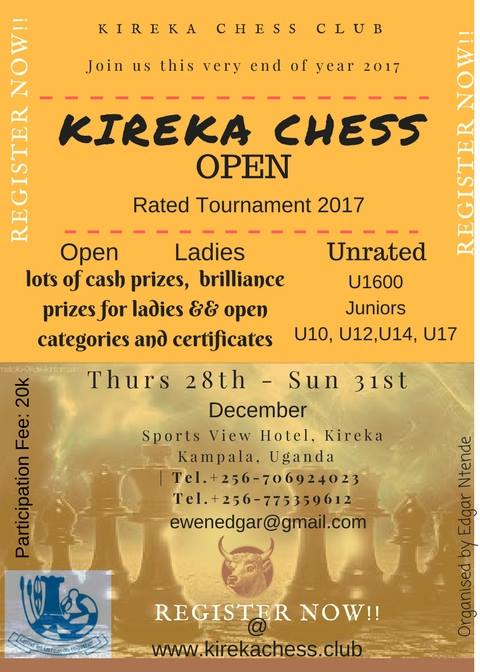 Poster for the Kireka Open.