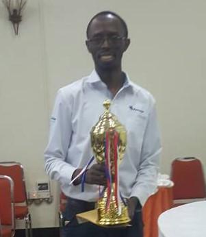 Proud winner FM Harold Wanyama.