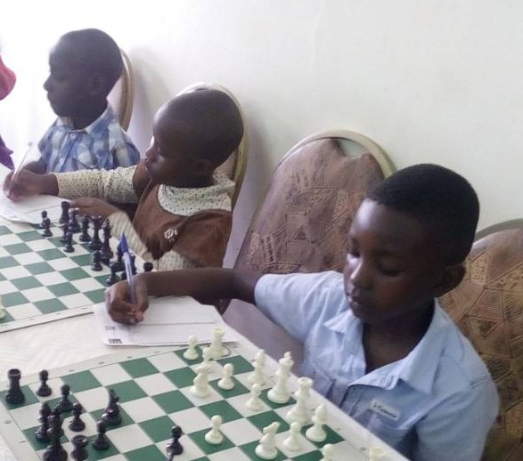 Young Ugandan players who will be terrorising Kenyan chess players in the future!