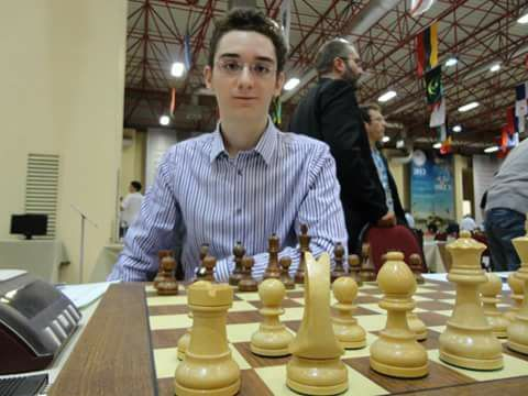 GM Fabiano Caruana at the 2012 Istanbul Olympiad.  Photo credit Mehul Gohil.