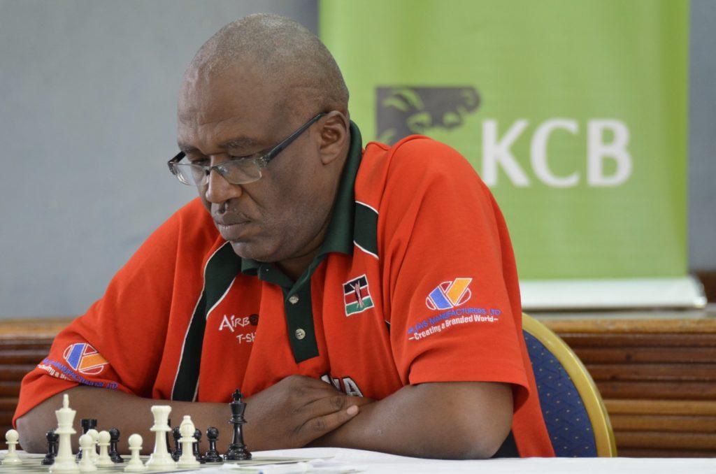 1990 Kenya National Champion Lawrence Kagambi in action.