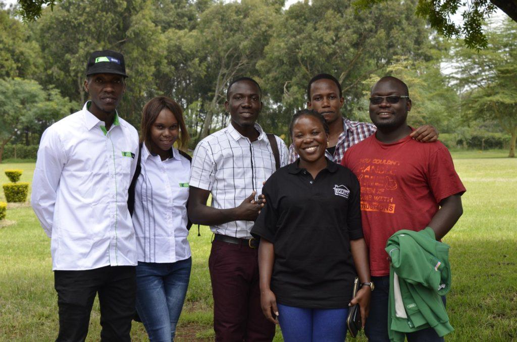 Nsubuga, WFM Angolikin Goretti, Mathias Ssonko, WFM Ivy Amoko, FM Patrick Kawuma and IM Arthur Ssegwanyi. Missing from the photo are FM Harold Wanyama and IM Arthur Emojong.