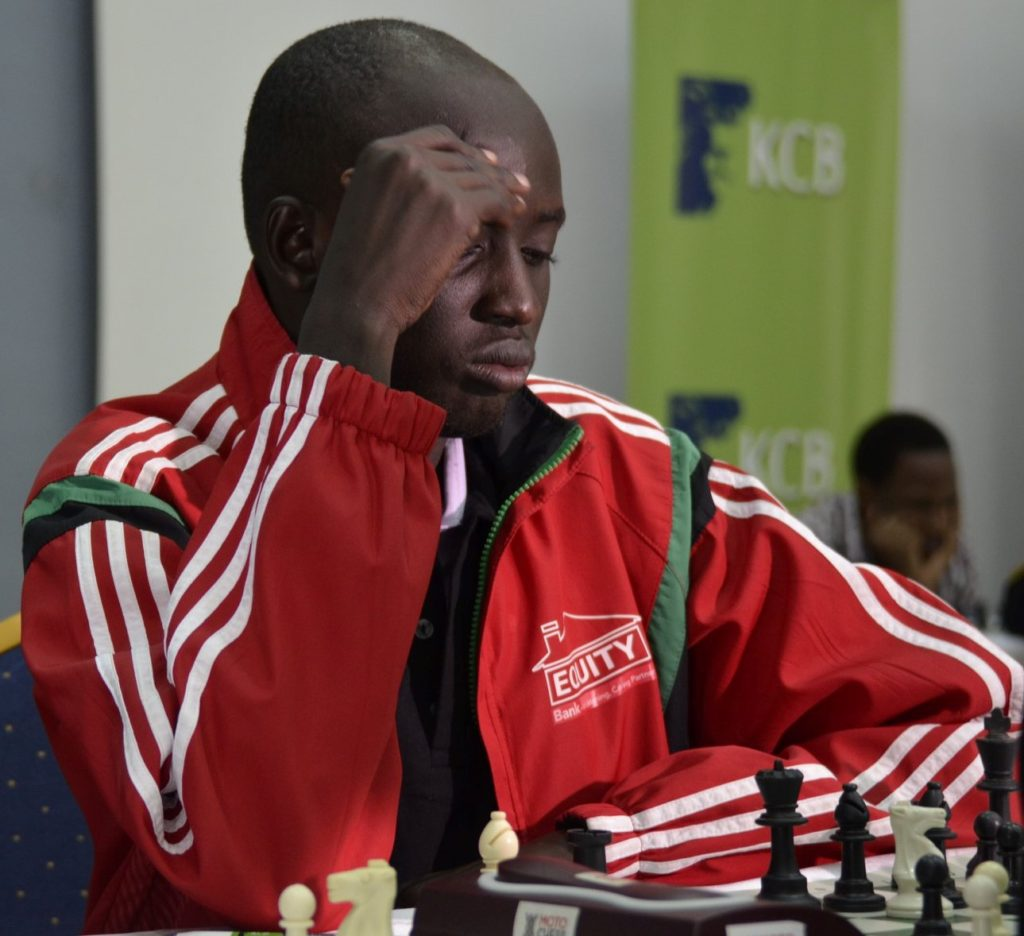 James Panchol of South Sudan who lost to IM Arthur Ssegwanyi of Uganda in round 2.