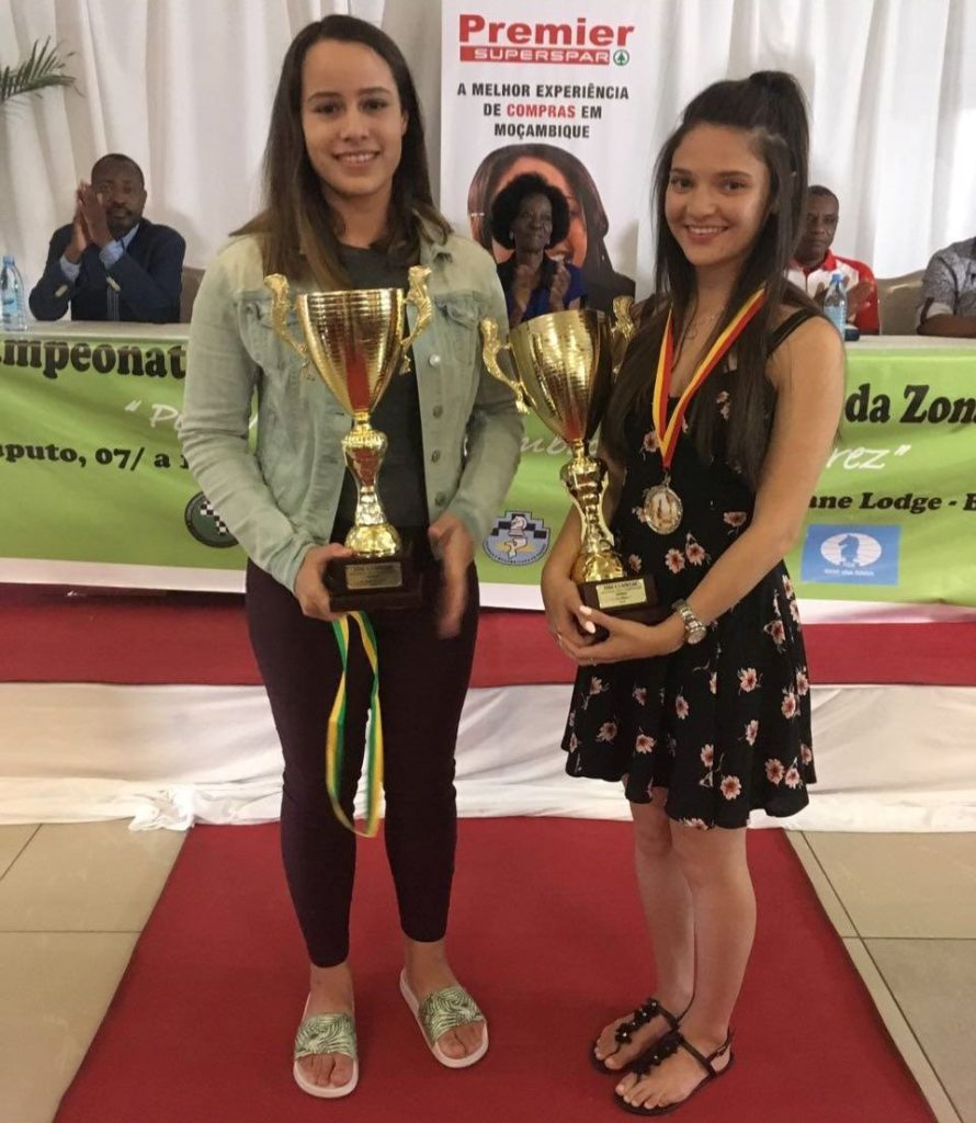 Proud winners. Runners up Jesse February (left) and winner Megan Van Niekerk both of South Africa.