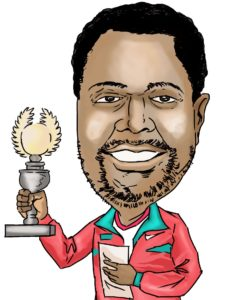 Caricature of CM Ben Magana.