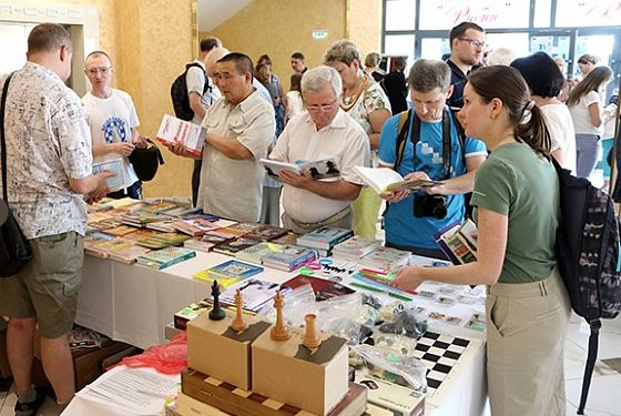 All chess tournaments have a stall. Photo credit Eteri Kublashvili and Vladmir Barsky.