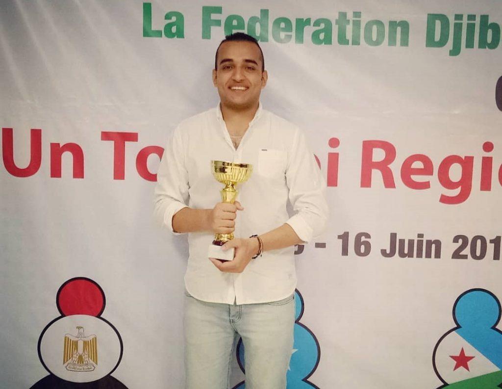 2018 Zone 4.2 Individual Chess winner GM Hesham Abdeirahman of Egypt.
