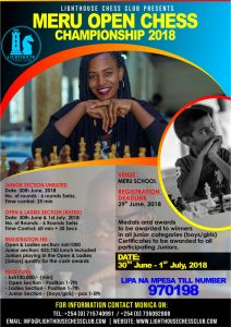 Poster for the Meru Open.