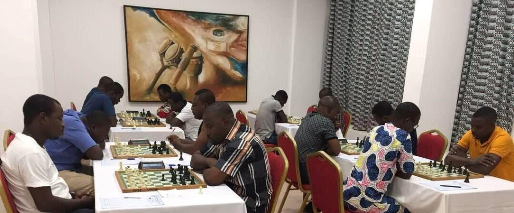 The playing hall of the Togo Olympiad Qualifiers.