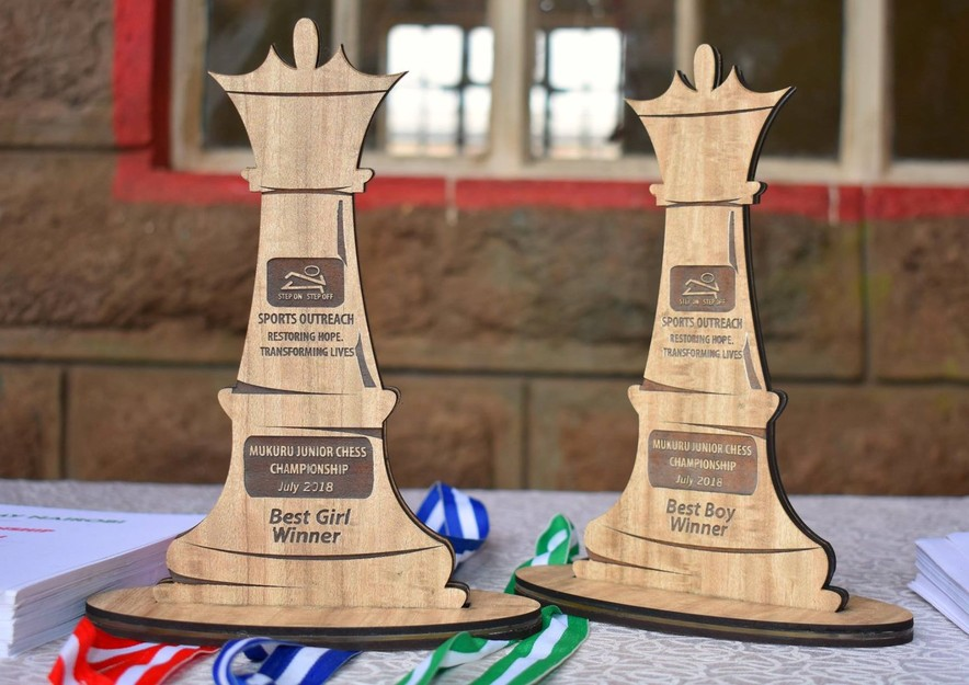 Trophies for the winner.  Photo from the event.  Photo credit Jesse Kamau,  of Planet Pixel Photography.