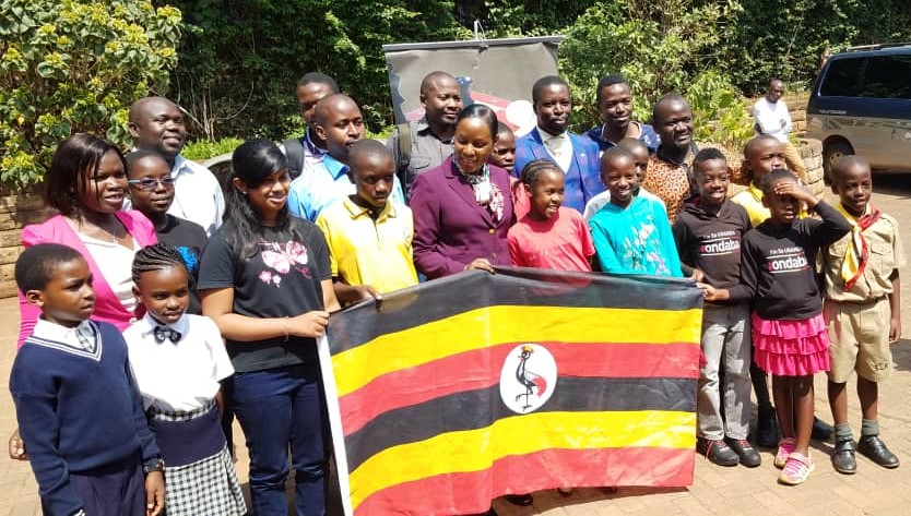 Team Uganda at their flag off.