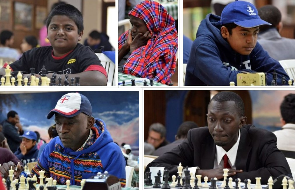 Players from the event. Top from left - Sanjay Ramesh, Ivan Mugisha, Sumit Deshpande. Bottom from left Edwin Odhiambo and Kizito Mubiru.