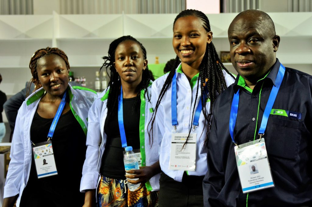 From left WCM Joyce Nyaruai, Gwen Jumba, Daphne Mwikali & Head of Delegation John Mukabi.