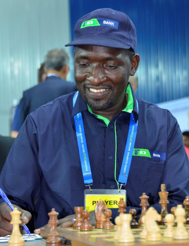 Dr Victor Ngani bring home a point for Kenya.