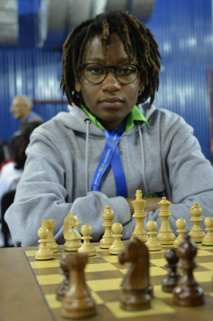 Lucy Wanjiru getting ready for round 4.