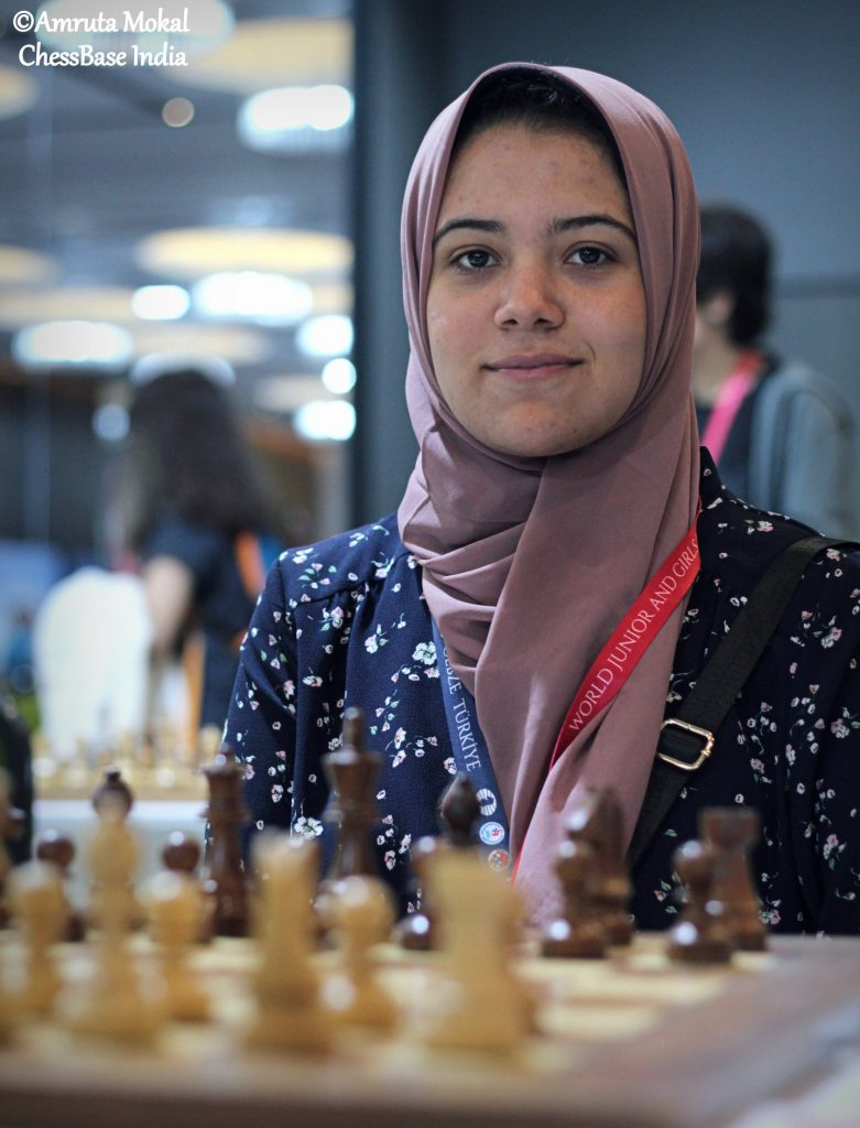 WGM Shahenda Wafa of Egypt.  Photo credit Amruta Mokal of Chessbase India.