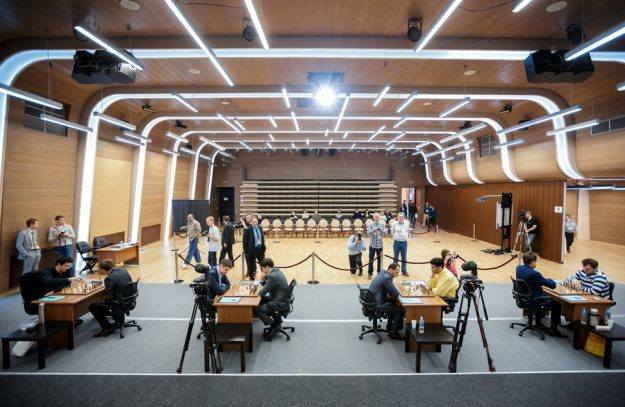 Venue for the event - Ugra Chess Academy. Photo credit organisers of the event.