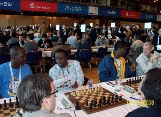 Team Kenya at the 2008 Dresden Olympiad. From left PN Odhiambo, Humphrey Andolo, CM Ben Magana & Peter Gilruth.