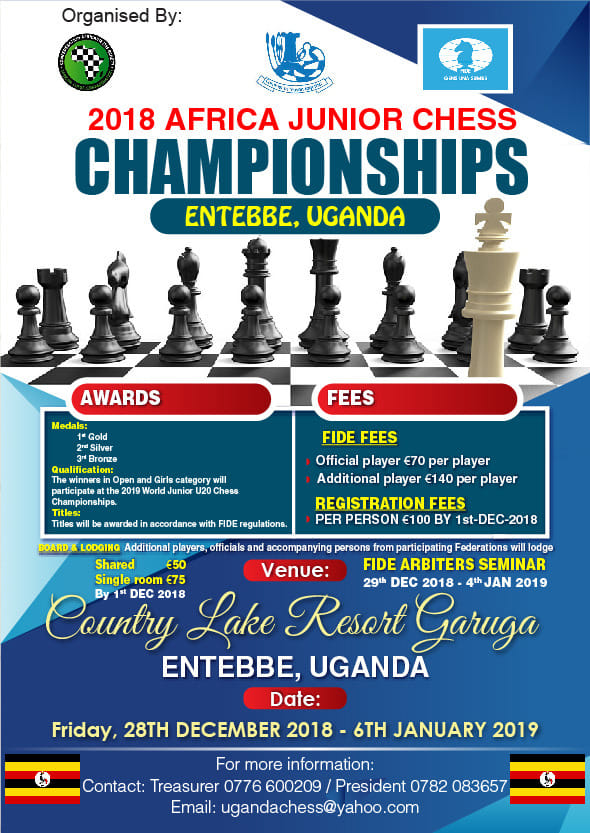 Poster of the Africa Junior Chess Championship.