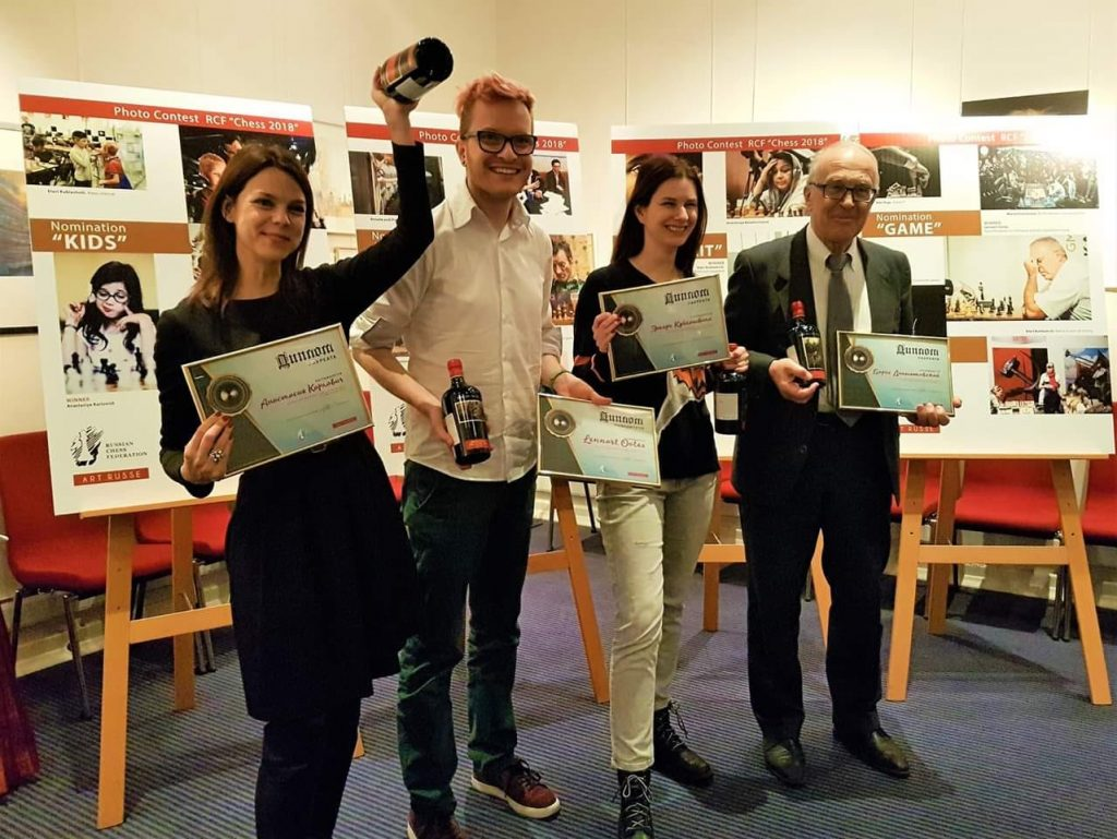 Our star photographers from the event - standing from left Anastasiya Karlovych, Lennart Ootes, Eteri Kublashvili & Boris Dolmatovsky. Photo credit Maria Emelianova.